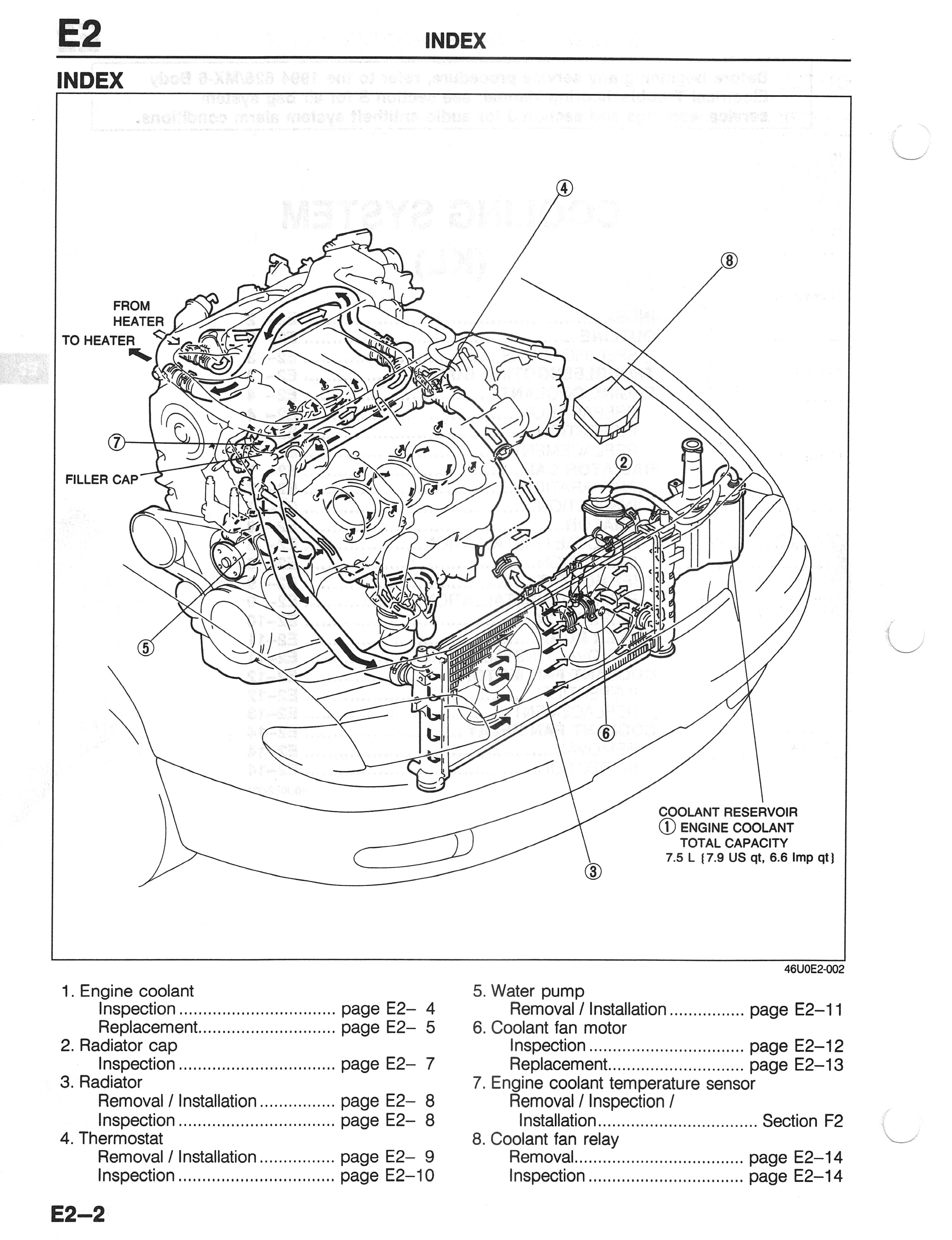 ford probe engine parts diagram