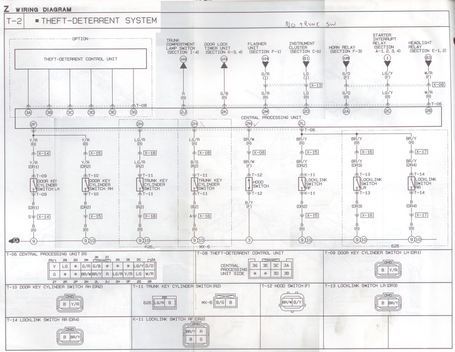 Removing Imobilizer System 95 1993 2002 25l V6 Mazda Rx 7 Wiring Schematic 6707wy
