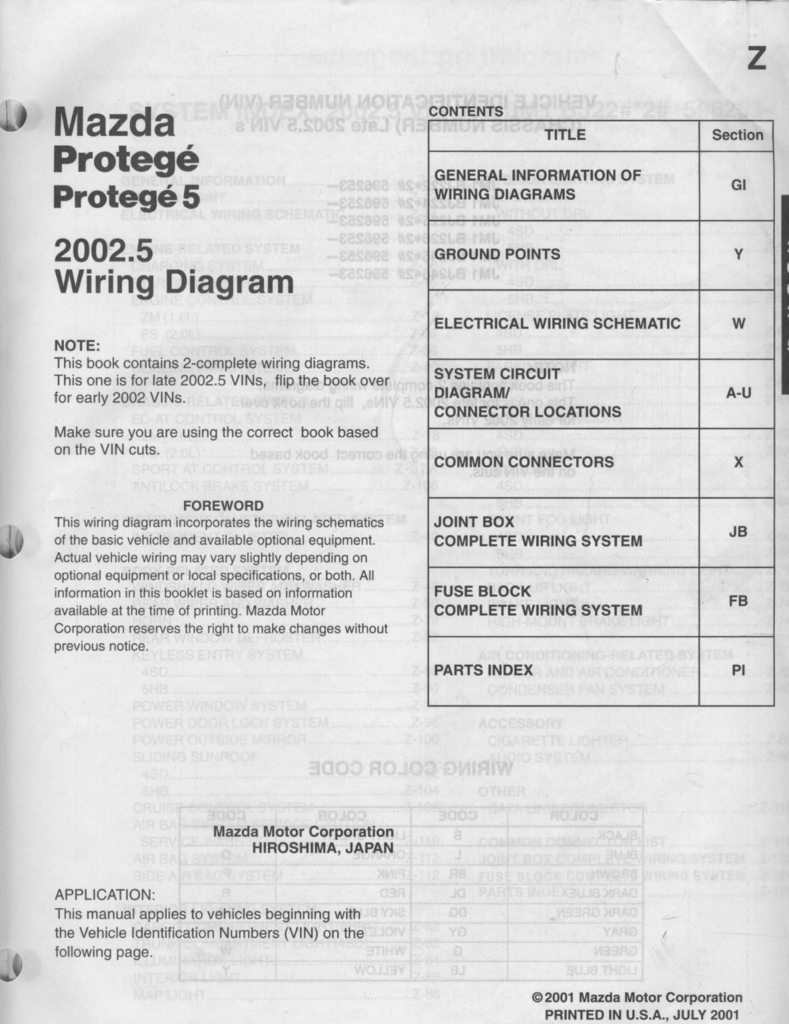 Protege5 klze protege6 what what page 3 projectsbuilds the wiring diagram is just shy of 38 and contains full diagrams for the 2002 and 20025 years the wsm is just shy of 1 34 its a beast asfbconference2016 Gallery