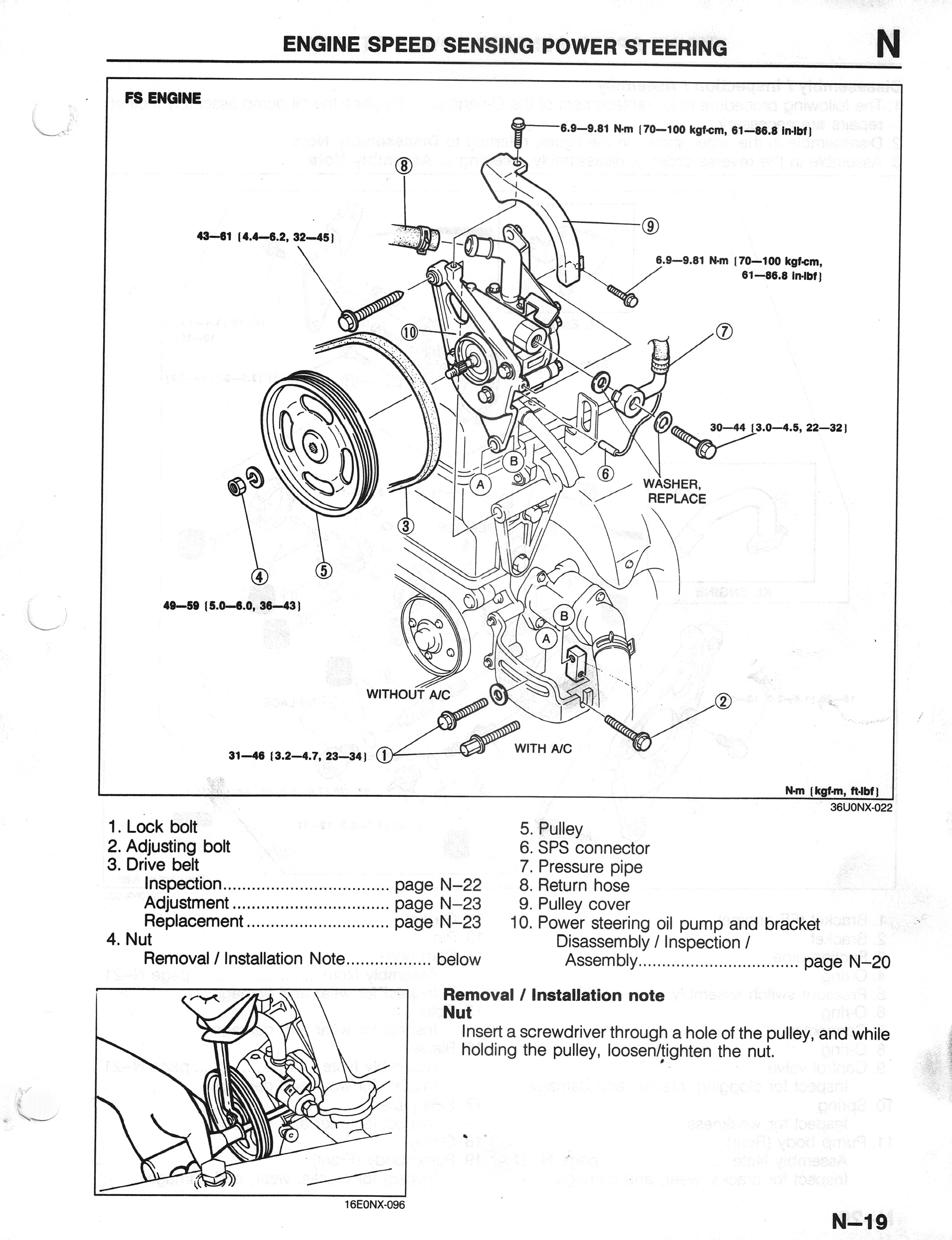 power steering pump repair info 1993 2002 2 5l v6. Black Bedroom Furniture Sets. Home Design Ideas