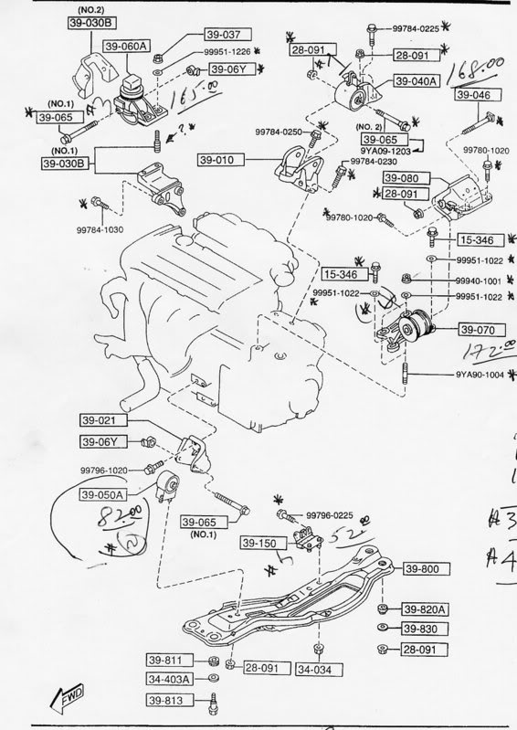 2002 lexus es300 engine mounts diagram on how many motor mounts? 1993 2002 (2 5l) v6 mazda626 net forums Parts of Lexus SC430 Front Suspension Diagram 2004 Corvette Frame Diagram