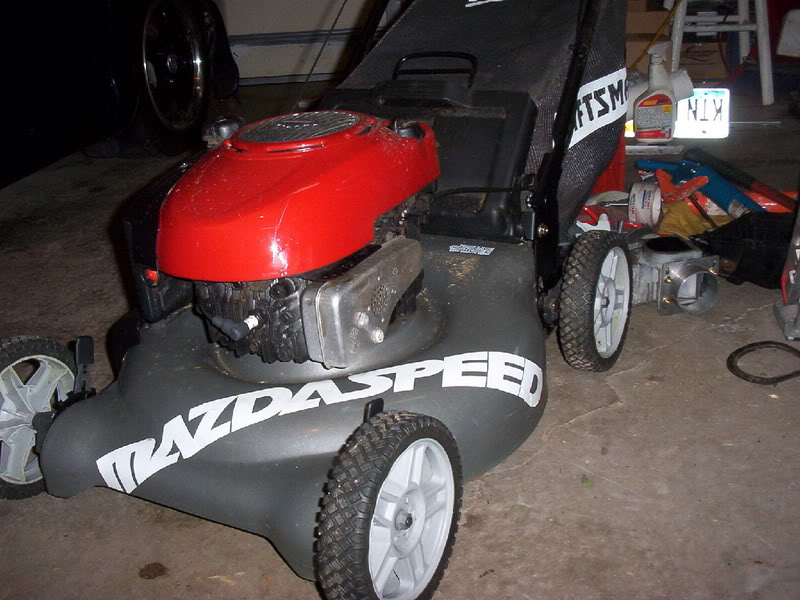 Lawn Mower Turbocharger : My turbo lawn mower photo section mazda forums