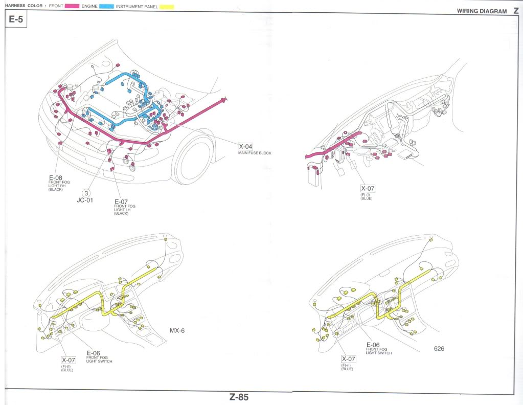 Mazda 626 Front Fog Lights Audio Electronics Forums Ebay Light Wiring Diagram Img 317008 1 Z 85 Foglightdiagram
