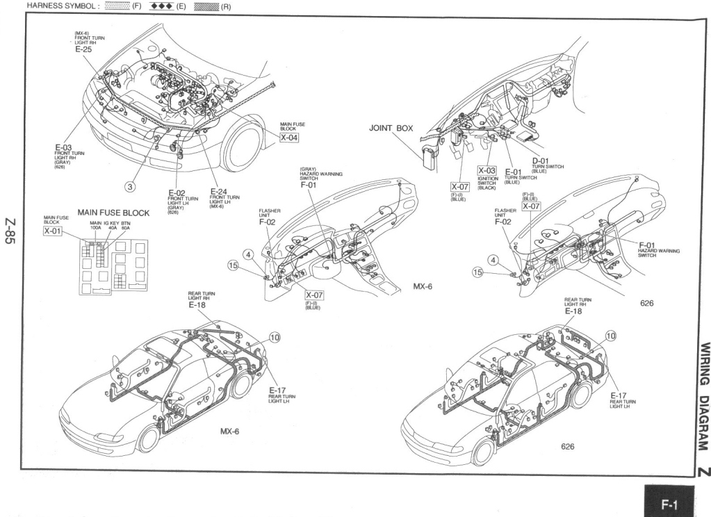mazda mx 6 power window wiring diagram