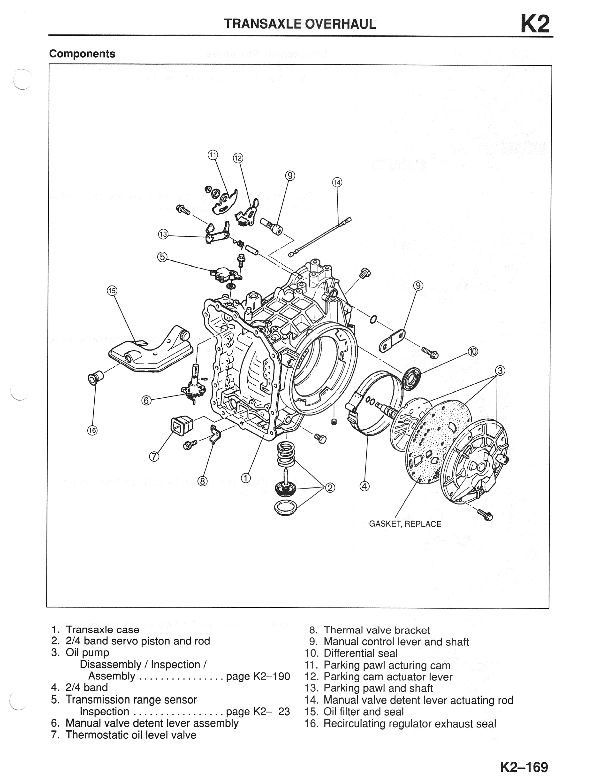 service manual  diagram of how a 1996 mazda millenia