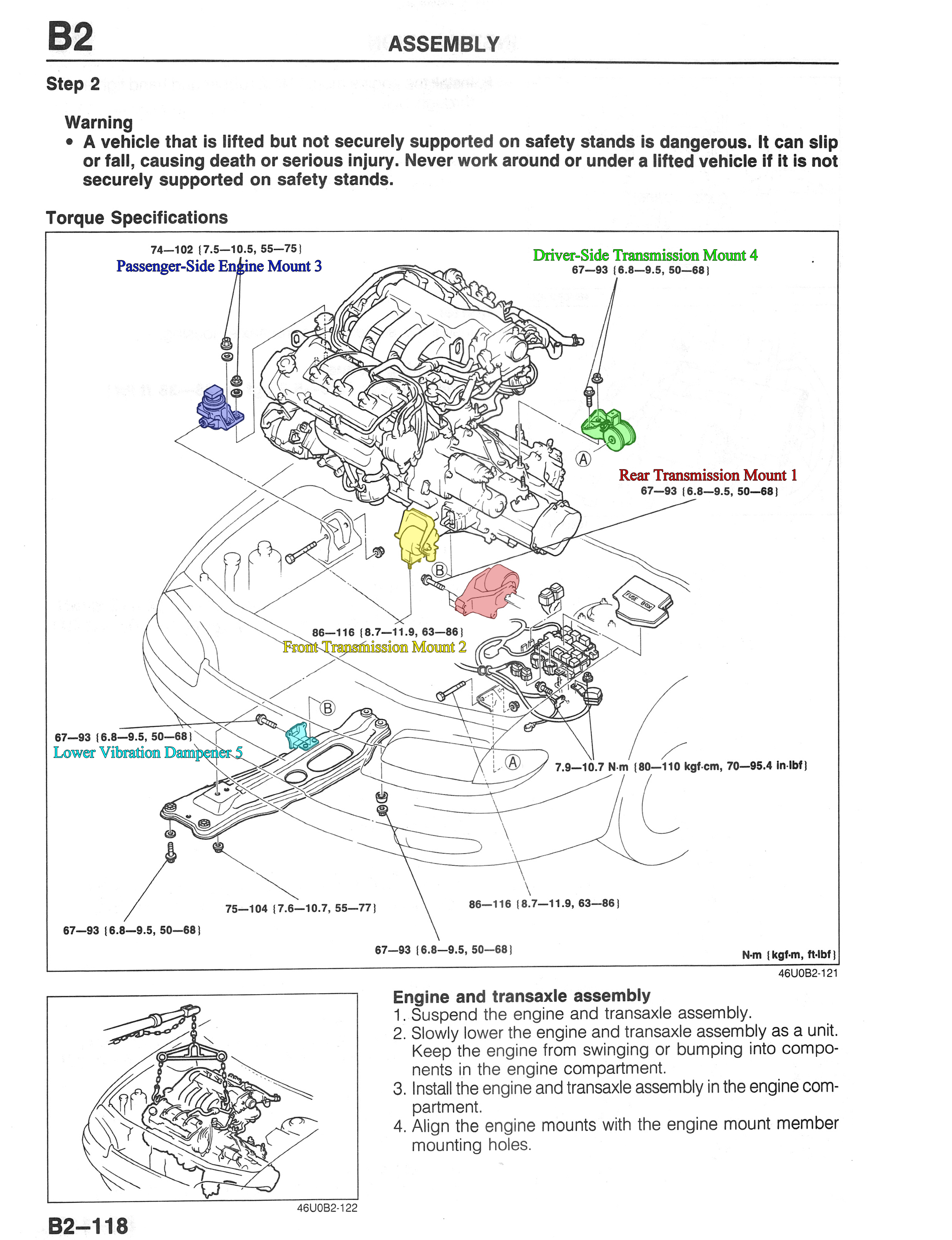 Motor Mount Installation 1993 2002 25l V6 Forums 2001 Mazda Millenia Engine Diagram B2 118