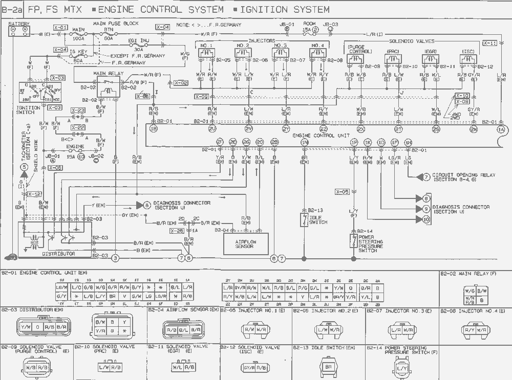 990 Diagram For 4 Cyl Ecu on 1995 Ford Probe Wiring Diagram