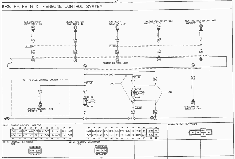 01 mazda 626 wiring diagram