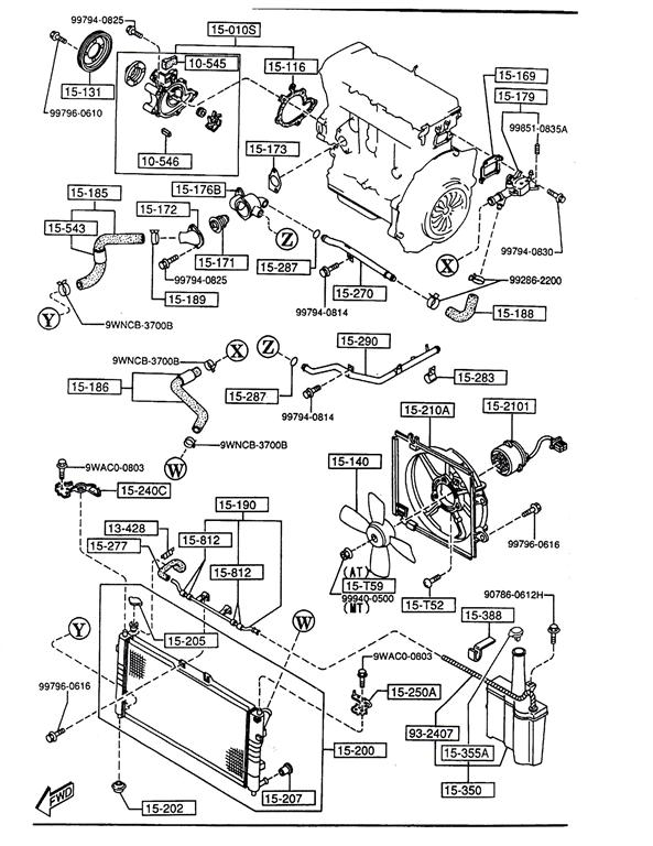 Mazda 626 Coolant System Diagram on 2002 Mazda Protege Belt Diagram