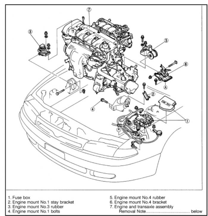 Mazda Millenia 2 3 Motor Mount Location