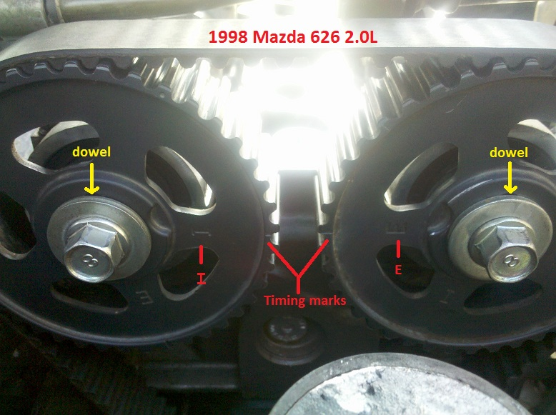 1992 Mazda 626 Serpentine Belt Routing And Timing Belt Diagrams