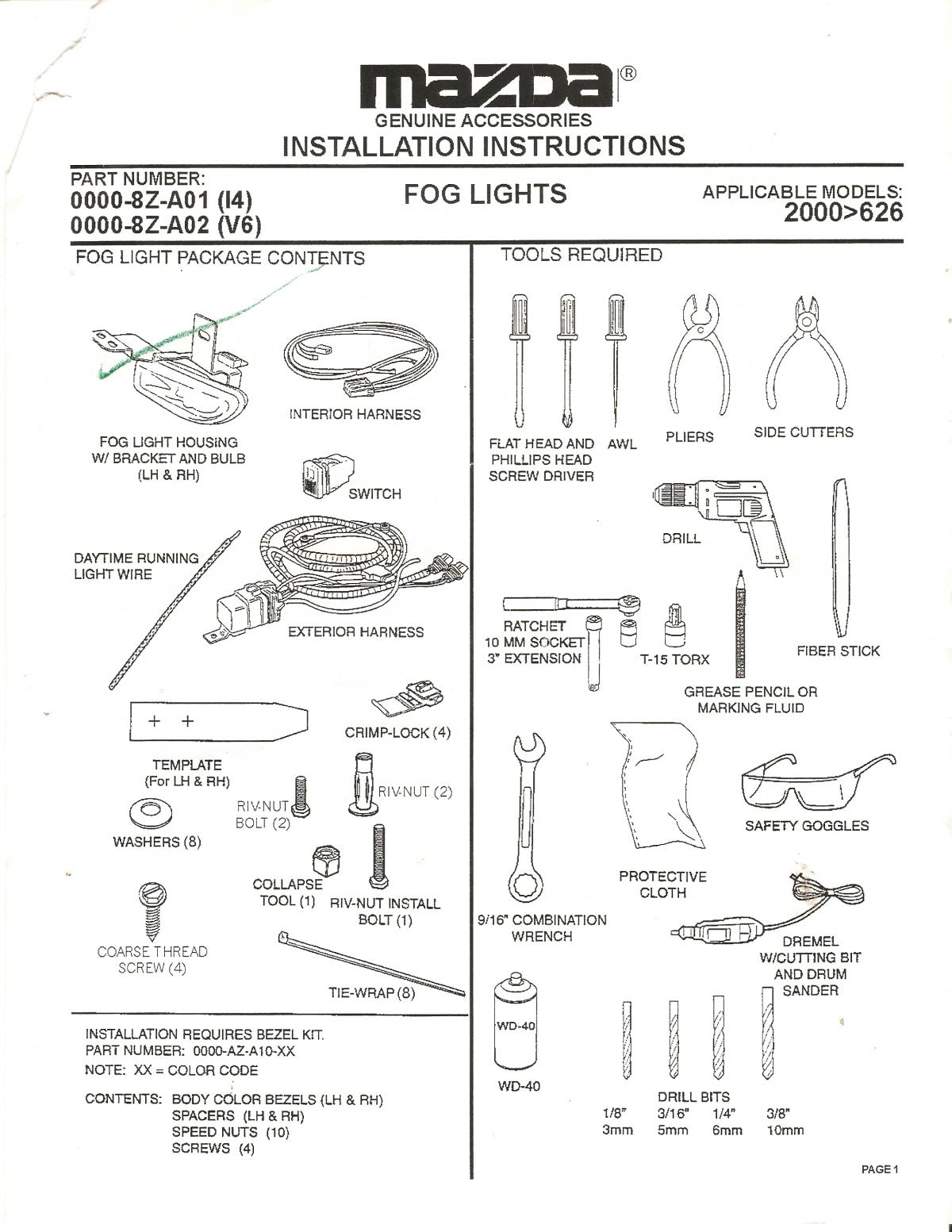 how to  install fog lights on 00-02 626 - tutorials  u0026 how to guides