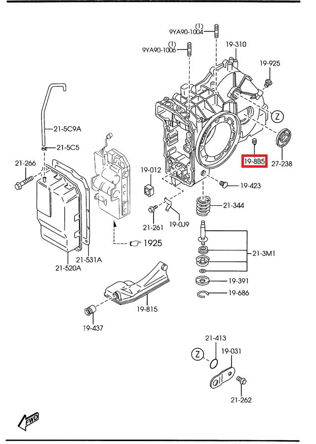 2001 mazda 626 manual transmission diagram